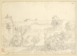 View Toward Hampstead From Highgate, London, 1834